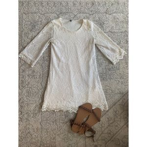 Angelic White Crochet Dress